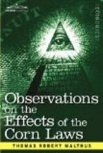 Observations on the Effects of the Corn Laws, and of a Rise or Fall in the Price of Corn on the Agriculture and General Wealth of the Country by Thomas Malthus