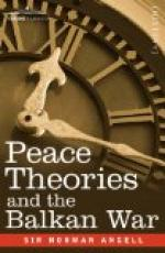 Peace Theories and the Balkan War by Norman Angell