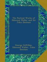 Poetical Works of Edmund Waller and Sir John Denham by Edmund Waller