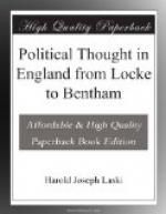 Political Thought in England from Locke to Bentham by Harold Laski