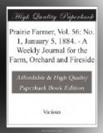 Prairie Farmer, Vol. 56: No. 1, January 5, 1884. by