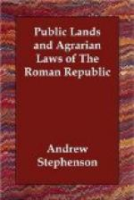 Public Lands and Agrarian Laws of the Roman Republic by