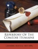 Repertory of the Comedie Humaine by