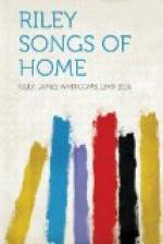 Riley Songs of Home by James Whitcomb Riley