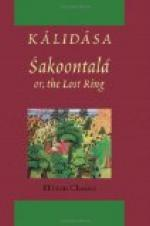 Sakoontala or the Lost Ring by
