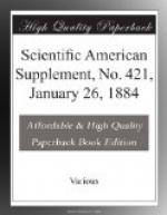 Scientific American Supplement, No. 421,  January 26, 1884 by