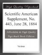 Scientific American Supplement, No. 443,  June 28, 1884 by
