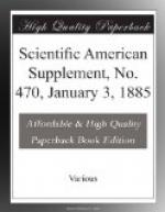 Scientific American Supplement, No. 470, January 3, 1885 by