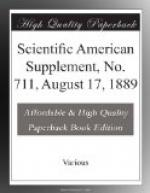 Scientific American Supplement, No. 711, August 17, 1889 by