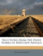 Selections from the Prose Works of Matthew Arnold by Matthew Arnold