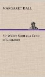 Sir Walter Scott as a Critic of Literature by Margaret Ball