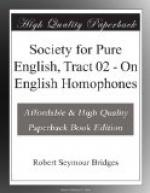 Society for Pure English, Tract 02 by