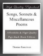 Songs, Sonnets & Miscellaneous Poems by
