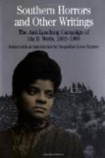 Southern Horrors by Ida B. Wells