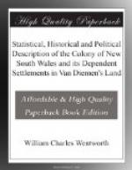 Statistical, Historical and Political Description of the Colony of New South Wales and its Dependent Settlements in Van Diemen's Land by William Wentworth