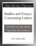 Studies and Essays: Concerning Letters by John Galsworthy