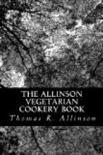 The Allinson Vegetarian Cookery Book by