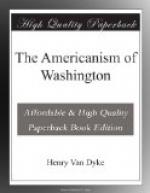 The Americanism of Washington by Henry van Dyke