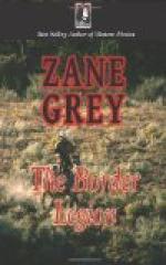 The Border Legion by Zane Grey