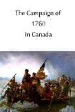 The Campaign of 1760 in Canada by