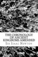 The Chronology of Ancient Kingdoms Amended by Isaac Newton