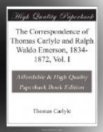 The Correspondence of Thomas Carlyle and Ralph Waldo Emerson, 1834-1872, Vol. I by Thomas Carlyle