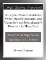 The Cyder-Maker's Instructor, Sweet-Maker's Assistant, and Victualler's and Housekeeper's Director by Thomas Chapman
