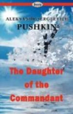 The Daughter of the Commandant by Aleksandr Pushkin