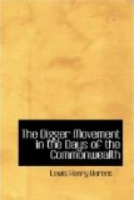 The Digger Movement in the Days of the Commonwealth by
