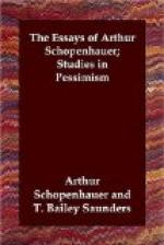 The Essays of Arthur Schopenhauer; Studies in Pessimism by Arthur Schopenhauer