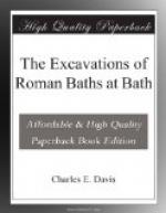 The Excavations of Roman Baths at Bath by