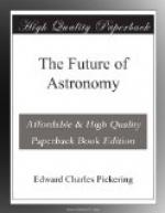 The Future of Astronomy by Edward Charles Pickering