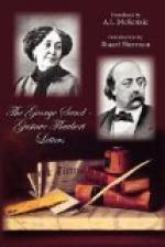 The George Sand-Gustave Flaubert Letters by Gustave Flaubert