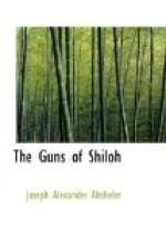 The Guns of Shiloh by Joseph Alexander Altsheler