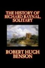 The History of Richard Raynal, Solitary by Robert Hugh Benson