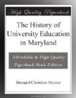 The History of University Education in Maryland by