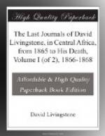 The Last Journals of David Livingstone, in Central Africa, from 1865 to His Death, Volume I (of 2), 1866-1868 by David Livingstone
