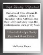 The Life and Work of Susan B. Anthony (Volume 1 of 2) by Ida Husted Harper
