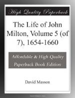 The Life of John Milton, Volume 5 (of 7), 1654-1660 by David Masson
