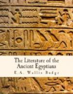 The Literature of the Ancient Egyptians by E. A. Wallis Budge
