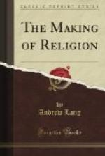 The Making of Religion by Andrew Lang