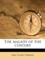 The Malady of the Century by Max Nordau