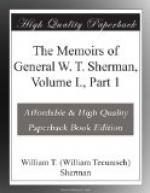 The Memoirs of General W. T. Sherman, Volume I., Part 1 by William Tecumseh Sherman