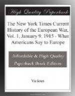 The New York Times Current History of the European War, Vol. 1, January 9, 1915 by