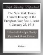 The New York Times Current History of the European War, Vol 1, Issue 4, January 23, 1915 by