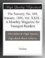 The Nursery, No. 169, January, 1881, Vol. XXIX by
