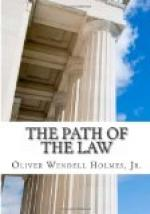 The Path of the Law by Oliver Wendell Holmes, Jr.