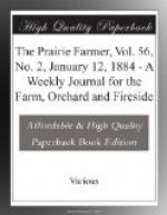 The Prairie Farmer, Vol. 56, No. 2, January 12, 1884 by