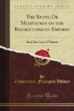 The Ruins, or, Meditation on the Revolutions of Empires and the Law of Nature by