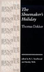 The Shoemaker's Holiday by